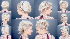 10 EASY HOLIDAY UPDOS FOR SHORT HAIR | Milabu