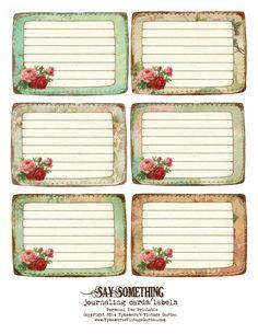 Ephemera's Vintage Garden: Free Printable - Stitched Journaling Cards/Labels