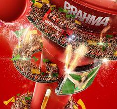 Brahma Vuvuzela By Romeu E Julieta Estudio Via Behance Game Artwork Cup Brahma