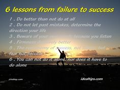 6 lessons from failure to success