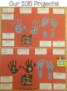 I saw an idea on Pinterest to take the hand of each person in your family (if you have 4 members) and placing them on a paper and then writ...