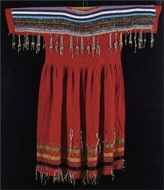 Blackfoot dress,   late 19th century  love these red Blackfoot dresses, held one in So. Dakota