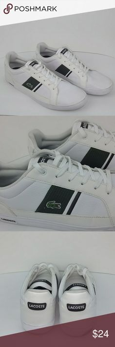 f2f08ba3d1db1f 💥💥SHOE SALE 💥💥 Lacoste Sport Shoes Lacoste Ortholite White and Green  Men s Size 14 Sport Shoes.    This Item Had Moderate Wear and Will Be  Priced To ...