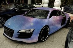 Omg!! This is beautiful!!! galaxy painted audi r8