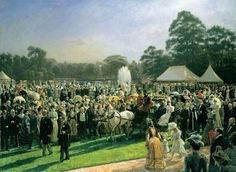 Laurits Regner Tuxen (1853-1927), The Garden Party at Buckingham Palace, 28 June 1897. Dated 1897-1900. Oil on canvas, 167.7 x 228.7 cm (support, canvas/panel/str external), RCIN 405286. Royal Collection Trust / © Her Majesty Queen Elizabeth II 2016.