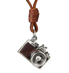 Camera Pendant Necklace for Men and Woman