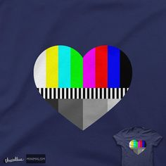 Please do not adjust your feelings. Another design scoring in the @threadless #minimalism challenge. Score here https://www.threadless.com/designs/a-test-of-love or click the link in my profile. #art #design #illustration #graphicdesign #testcard #rgb #grayscale #television #heart #teeshirt