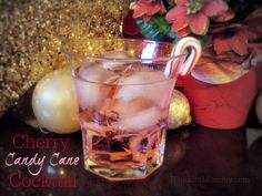 Two New Drink Recipes! Festive Holiday Punch and Cherry Candy Cane Cocktail #recipe #holiday #ad