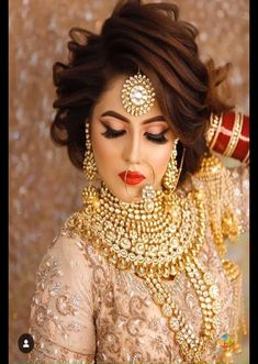 Latest Bridal Makeup Glimpse into the world of trendy and latest bridal makeup<br> Pakistani Bridal Makeup, Bridal Eye Makeup, Indian Bridal Outfits, Bridal Makeup Looks, Pakistani Bridal Dresses, Bride Makeup, Bridal Looks, Wedding Makeup, Bridal Style
