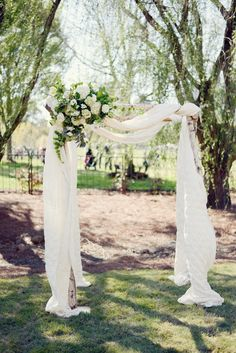 outdoor wedding ceremony; photo: Alea Moore
