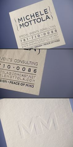 Letterpress and foil stylish square business cards