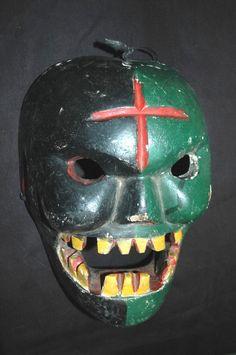 Vintage Mayan DaNcE Mask: PaScAUl, DEATH, Guatemalan Folk Art (CONVITE) | eBay