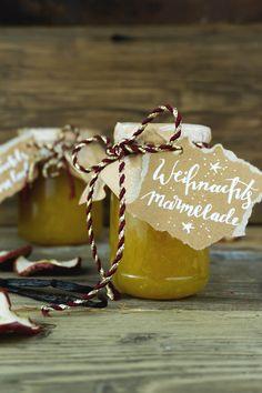 Christmas Bazaar Crafts, Christmas Candy, Diy Christmas Gifts, Christmas Baking, Christmas Time, Xmas, Winter Marmelade, Marmalade Recipe, Jam Recipes