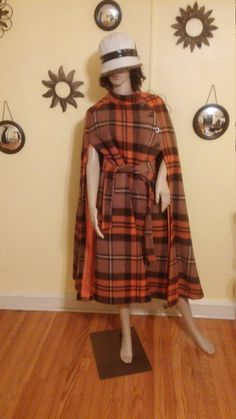 1970s Plaid Cape by Jimmy Hourihan. 60s Plaid by MISSVINTAGE5000