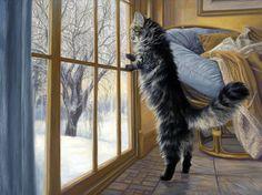 . Художница Lucie Bilodeau. Morning After
