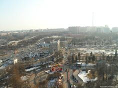 View from the Moscow-850 Ferris wheel