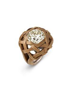 Hemmerle ring | diamond - bronze - white gold