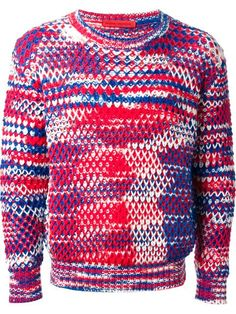 Shop Raf Simons mixed yarn sweater in Stijl from the world's best independent boutiques at farfetch.com. Over 1000 designers from 60 boutiques in one website.