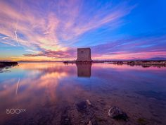 Tower sunset - Salinas de Santa pola
