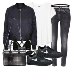 """Untitled #19048"" by florencia95 ❤ liked on Polyvore featuring H&M, NIKE, Topshop, T By Alexander Wang, Yves Saint Laurent, Alexander Wang, Simply Vera and Linea Pelle"