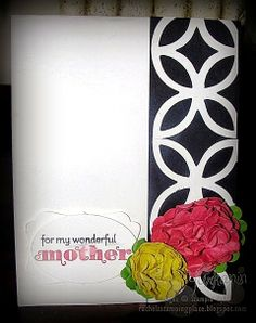 A great Mother's Day card (or any occasion if you swap out the greeting) using the big shot and punches to make the flowers. Uses all Stampin' Up! products. Visit Rachel's Stamping Place: www.rachelsstampingplace.blogspot.com for complete details