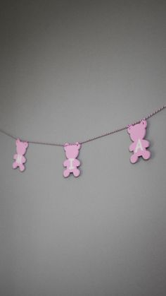 Personalized Shabby Chic Girls Nursery Garland, Wooden Teddy Bear Rustic Custom Name Childrens Bedroom Decor, Pink Pastel Baby Shower Gift Wooden Reindeer, Childrens Bedroom Decor, Retro Baby, Wedding Place Cards, Wooden Hearts, Handmade Wooden, Girl Nursery, Baby Shower Decorations, Baby Shower Gifts