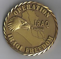 Operation Iraqi Freedom coin (front).  Received this when working in Northern Iraq during the operation.