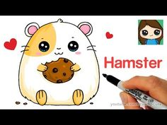 How to Draw a Hamster Super Easy - YouTube