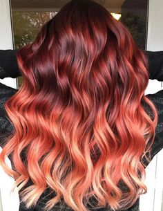 27 Blazing Hot Red Ombre Hair Color Ideas in 2019 Crying for a major hair color update? Own the most alluring red ombre hair in town with one of these beautiful colors! Fall Hair Colors, Hair Dye Colors, Hair Color Shades, Red Hair Color, Cool Hair Color, Red Color, Red Hair With Ombre, Joico Hair Color, Creative Hair Color