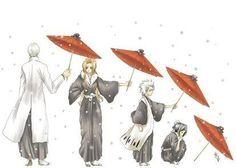 (Bleach ) Ichimaru Gin --> Matsumoto Rangiku --> Hitsugaya Toushiro --> Hinamori Momo