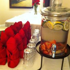A thirst for #Revenge: Spa water--cucumber, lemon and strawberry