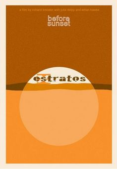 Before Sunset - minimalist poster by Sam Smith Before Sunset Movie, Sunset Movies, Before Sunrise, Disney Minimalist, Minimalist Poster, Movie Poster Art, Film Posters, Before Trilogy, Children's Films