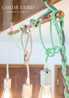 DIY Color Cord Pendant Lights Tutorial