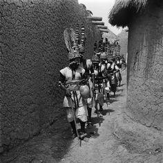 Africa   Senufo masqueraders.  Ivory Coast   ©Michel Renaudeau