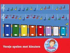 Versjes spelen met kleuters op digibord of computer op kleuteridee.nl  -  Kindergarten educative  game for IBW or computer