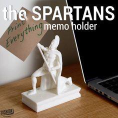 3DShook| the SPARTANS Memo Holder |