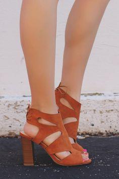 Camel Peep Toe Cutout Ankle Laceup Back Heel Luciana-80