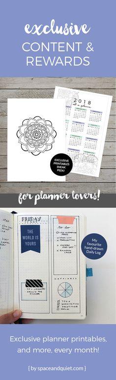 Join my VIP community and get access to exclusive planner printables and content every month! Click through to learn more... #exclusiveplannerprintables #plannerprintable #printablemandala #printablecalendar #bulletjournal #bulletjournalcommunity #patreon #plannerlover #planningtips