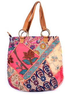 Handmade Big Size Patch-work Leather Handle Shopping Bag.These are basic handbags widely used by girls .This tote bags are uniquely design with Embroidery and zips along with leather belts use as sling bag or clutch. This unique single piece available of this range Open Pocket, Interior Slot Pocket,