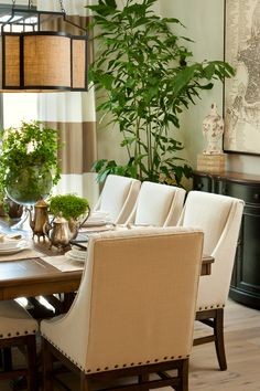 Plan 3 Dining Room at Arista at the Crosby by Davidson Communities. Interior Design by Design Line Interiors.