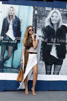 #fashion #fashionista Chiara fantasia grigio bianco New York fashionweek: day 7 | The Blonde Salad