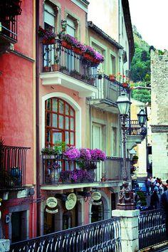 Taormina balconies, (Italy)