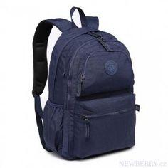 Kvalitný tmavo modrý batoh s vodoodpudivou povrchovou úpravou Miss Lulu : NEWBERRY - velkoobchod dámské kabelky a pánské tašky, peněženky, batohy, kožené zboží Sleeping Tent, Cloth Bags, Trekking, Backpacking, Fashion Backpack, Safari, Hiking, Notebook, Footwear