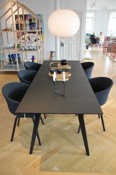 Hay Copenhagen, Denmark - can& wait to visit this showr.- Hay Copenhagen, Denmark – can& wait to visit this showroom. The excitement … Hay Copenhagen, Denmark – can& wait to visit this showroom. The excitement is brewing! Kitchen Table Legs, Dining Table Legs, Dining Table Design, Patio Dining, Kitchen Decor, Dining Set, Dining Room, Wooden Patio Chairs, Wood Patio