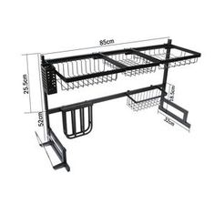 dish racks Increase your kitchen storage space for If you've ever felt like you're lacking kitchen space or you'd like your dishes to dry a little faster without actually using a towel Kitchen Buffet, Kitchen Dishes, Kitchen Decor, Stainless Steel Material, Stainless Steel Kitchen, Kitchen Storage, Storage Spaces, Dish Racks, Washing Dishes