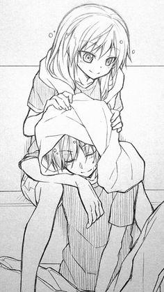 """Hmm, you should dry your hair carefully or you'll get sick."" - DA | Carnage Pair | KaruNagi | KaruGisa | Karma Akabane x Nagisa Shiota | Assassination Classroom"