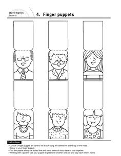 my family ingles para pre kinder Minion Coloring Pages, Coloring Pages For Kids, Dady Finger, Ingles Kids, Finger Puppet Patterns, All About Me Preschool, Family Worksheet, Puppets For Kids, Family Theme
