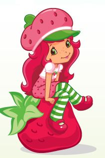 Strawberry Shortcake sitting on her strawberry Strawberry Shortcake Birthday Cake, Strawberry Shortcake Pictures, Strawberry Shortcake Coloring Pages, Strawberry Shortcake Characters, Cartoon Shows, Cute Cartoon, Cartoon Characters, Farm Animal Coloring Pages, Copics