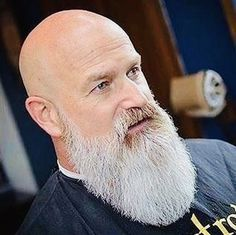 Looking to combine bald with beard styles? More and more men are trying one style or another. This gives you a lot of bald with beard styles to choose from. Bald Men With Beards, Bald With Beard, Grey Beards, Long Beards, Long Beard Styles, Hair And Beard Styles, Moustaches, Bart Styles, Shaved Head With Beard