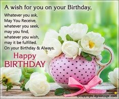 Celebrate your loved one's birthday by sending him/her warm greetings. Celebrate your loved one's birthday by sending him/her warm greetings. Religious Birthday Wishes, Birthday Msgs, Birthday Greetings For Women, Birthday Verses, Happy Birthday Wishes Quotes, Happy Birthday Celebration, Happy Birthday Flower, Birthday Wishes For Friend, Birthday Blessings